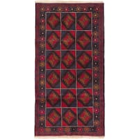 ecarpetgallery Hand Knotted Bahor Blue, Red  Wool Rug (3'5 x 6'5)