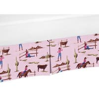 Sweet Jojo Designs Cowgirl Collection Cotton Cowgirl Print Crib Bed Skirt