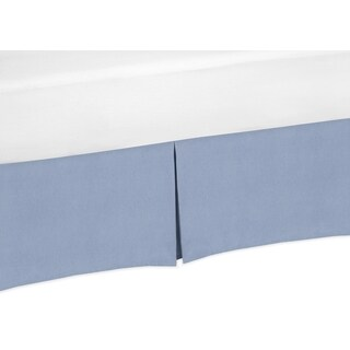 Sweet Jojo Designs Nautical Nights Collection Denim Crib Bed Skirt