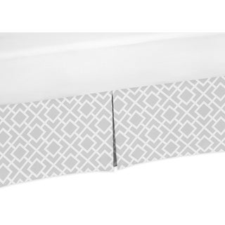 Sweet Jojo Designs Diamond Collection Gray and White Crib Bed Skirt
