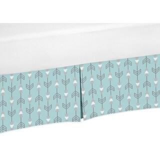 Sweet Jojo Designs Earth and Sky Collection Arrow Print Crib Bed Skirt