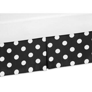 Sweet Jojo Designs Hot Dot Collection Polka Dot Crib Bed Skirt