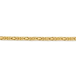 14 Karat Yellow Gold 3.25mm Byzantine Chain Necklace