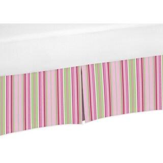Sweet Jojo Designs Jungle Friends Collection Cotton Stripe Crib Bedskirt