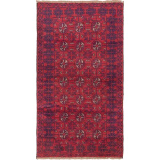 ecarpetgallery Hand Knotted Bahor Red Wool Rug - 3'6 x 6'1