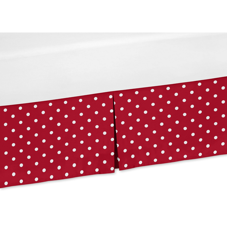 JoJo Designs Polka Dot Ladybug Collection Crib Bed Skirt ...