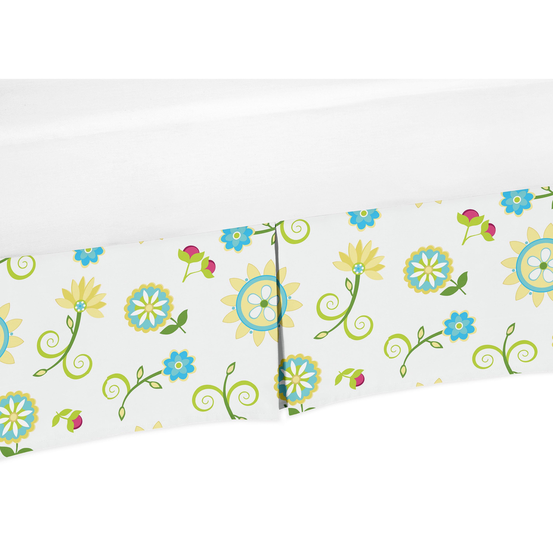 JoJo Designs Layla Collection Floral Crib Bed Skirt (Crib...