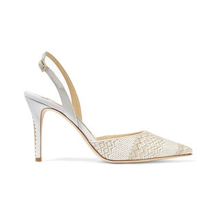 Jimmy Choo Tilly Woven Slingback Pumps