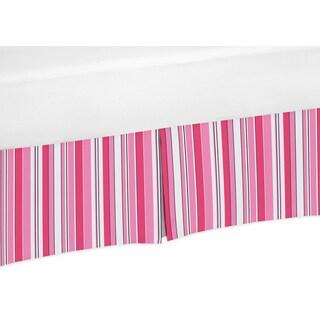 Sweet Jojo Designs Madison Collection Stripe Crib Bed Skirt