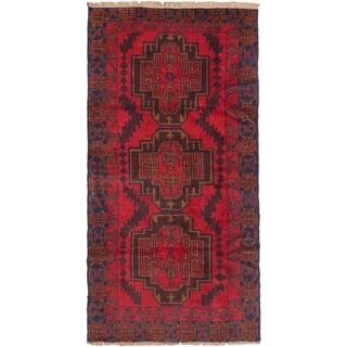 ecarpetgallery Hand Knotted Kazak Red Wool Rug (3'6 x 6'7)