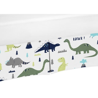 Link to Sweet Jojo Designs Blue and Green Mod Dinosaur Collection Microfiber Crib Bed Skirt Similar Items in Bed Skirts