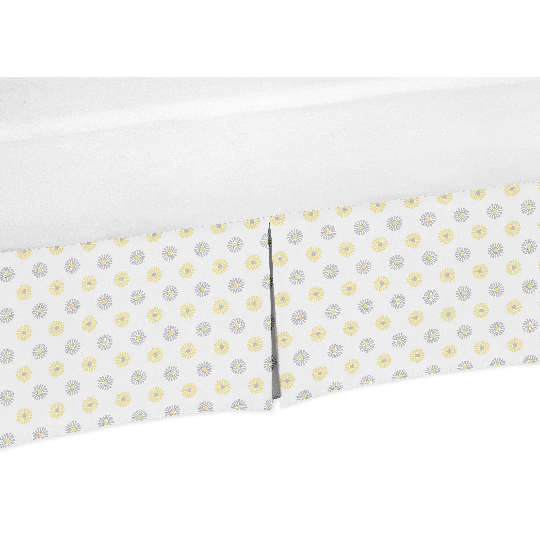 JoJo Designs Mod Garden Collection Floral Crib Bed Skirt ...