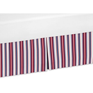 Sweet Jojo Designs Nautical Nights Collection Stripe Crib Bed Skirt
