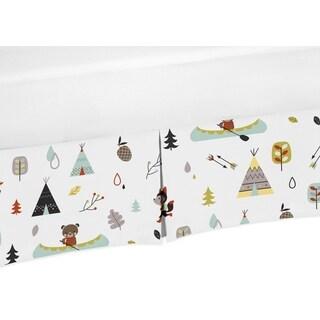 Sweet Jojo Designs Outdoor Adventure Collection Outdoor Print Crib Bed Skirt