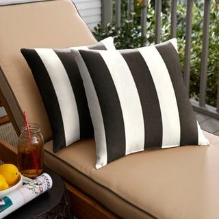 Duvall II Sunbrella Cabana Classic Indoor/ Outdoor 18 Inch Knife Edge Pillow Set