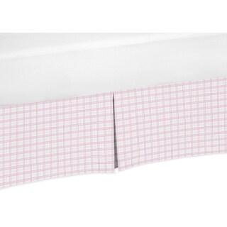 Sweet Jojo Designs Pretty Pony Collection Pink Plaid Crib Bed Skirt