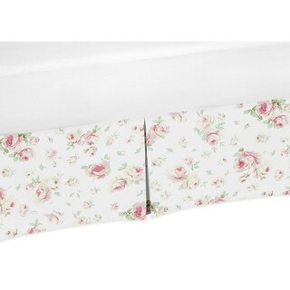 Sweet Jojo Designs Riley's Roses Collection Floral Cotton Crib Bed Skirt