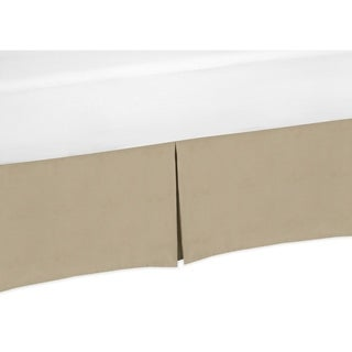 Sweet Jojo Designs Soho Blue and Brown Collection Taupe Crib Bed Skirt