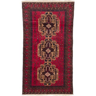 ecarpetgallery Hand Knotted Royal Balouch Red Wool Rug