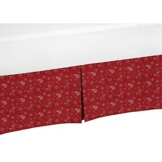 Sweet Jojo Designs Wild West Collection Red Bandana Print Crib Bed Skirt