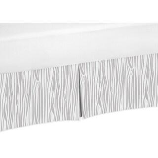 Sweet Jojo Designs Woodland Animals Collection Wood Grain Print Microfiber Crib Bed Skirt