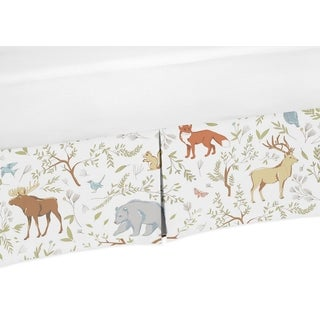 Sweet Jojo Designs Woodland Toile Collection Cotton Crib Bed Skirt