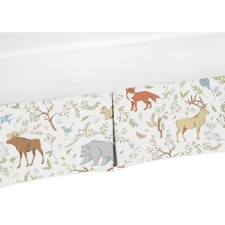 Link to Sweet Jojo Designs Woodland Toile Collection Cotton Crib Bed Skirt Similar Items in Bed Skirts