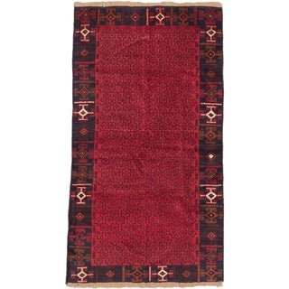 ecarpetgallery Hand Knotted Herati Red Wool Rug
