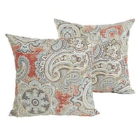 Havenside Home Marion Coral Paisley 18-inch Knife Edging Pillow Set