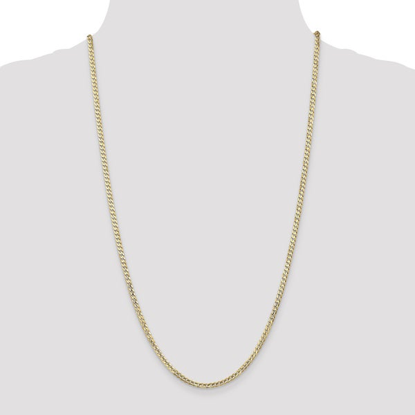d42d21ba4459f Shop 14 Karat Yellow Gold 3mm Concave Curb Chain Necklace by Versil ...