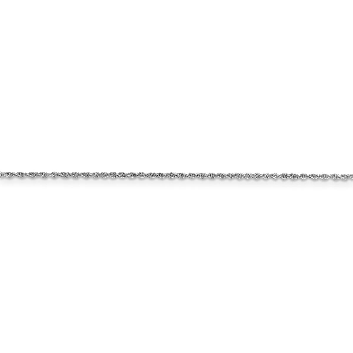 Versil 14 Karat White Gold 1.1mm Baby Rope Chain (18 Inch...
