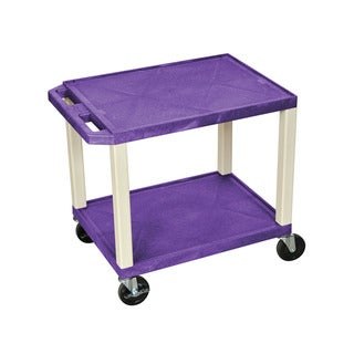 Offex OF-WT26PE Purple and Putty Multipurpose Utility Cart