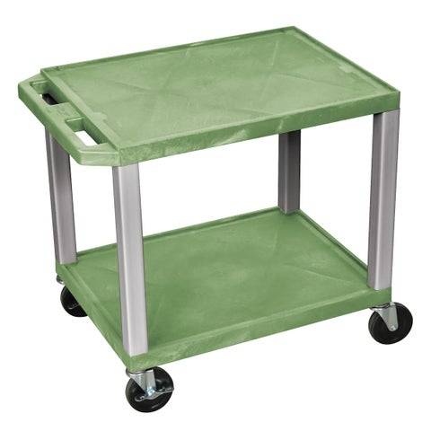 Offex Green with Nickel Legs Multipurpose Utility Cart