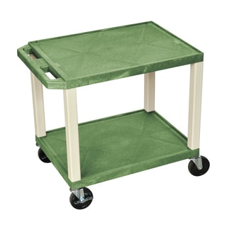 Offex Green Plastic 2-tier A/V Utility Cart