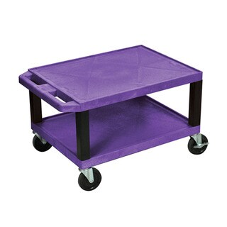 Offex Purple Plastic Multipurpose Utility Cart