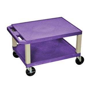 Offex Purple and Putty Thermoplastic 16-inch Multipurpose Utility Cart