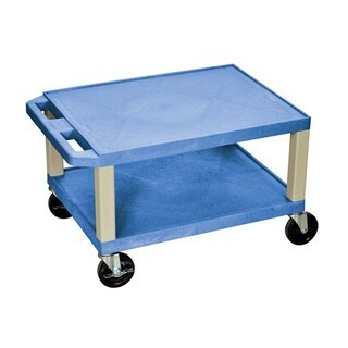 Offex Tuffy Blue With Putty 16-inch High Multipurpose Utility Cart