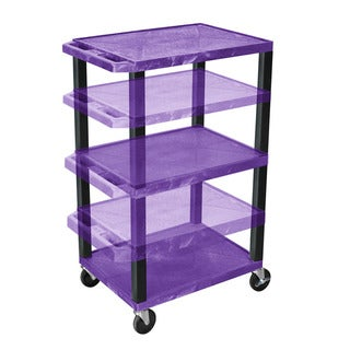 Offex Adjustable-height Tuffy Purple and Black Multi-Purpose Cart