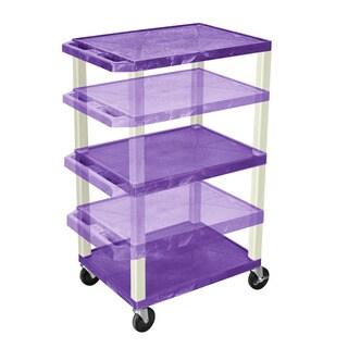 Offex Tuffy Purple/Putty Legs Adjustable-height Multipurpose Cart
