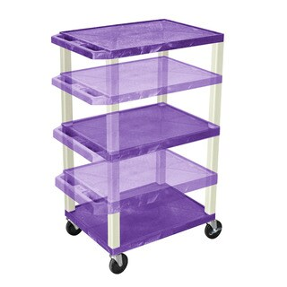 Offex Tuffy Purple/Putty Legs Adjustable-height Multipurpose Cart