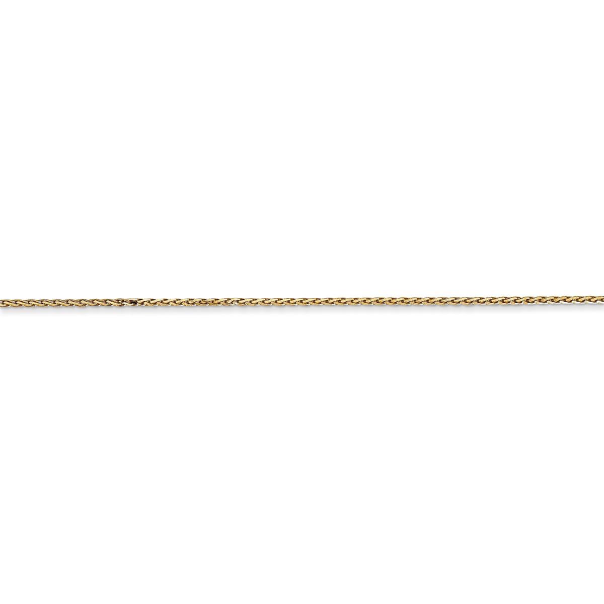 Versil 14 Karat Yellow Gold 0.8mm Round Diamond-cut Wheat...