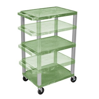 Offex Green Plastic Adjustable Height Tuffy Multipurpose Cart