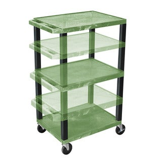 Offex Green Plastic Adjustable-height Multipurpose Cart
