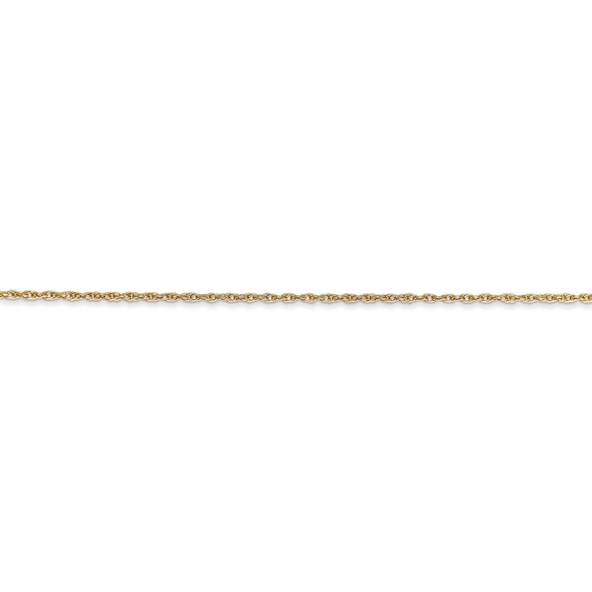 Versil 14k Yellow Gold 0.8mm Light-baby Rope Chain Neckla...