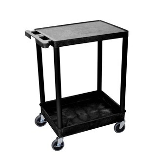 Offex OF-STC21-B Flat Top Tub Bottom Shelf Cart