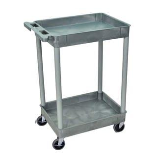 Offex Gray 2-shelf Tub Cart