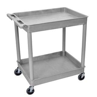 Offex OF-TC11-G Grey Plastic 2-tier Tub Cart