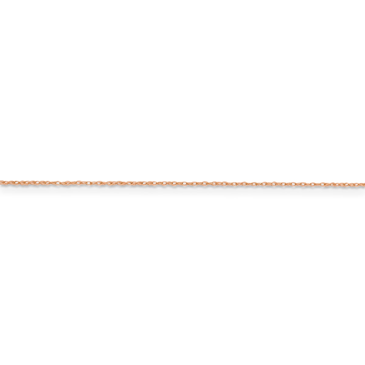 Versil 14k Rose Gold 0.5mm Cable Rope Chain (24 Inch), Me...