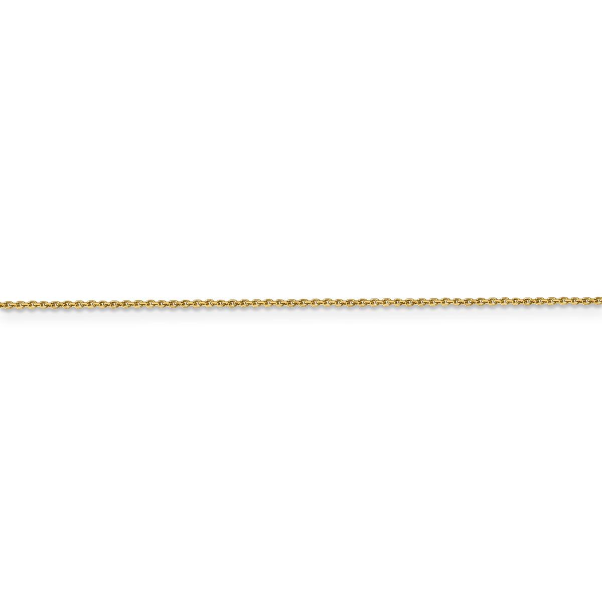 Versil 14 Karat Yellow Gold 0.90mm Diamond-cut Cable Chai...