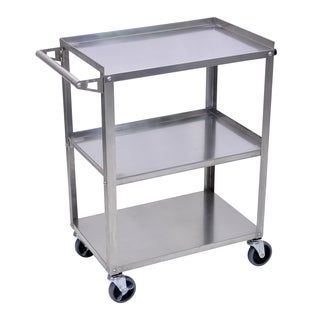 Offex OF-SSC-3 Stainless Steel 3-shelf Cart